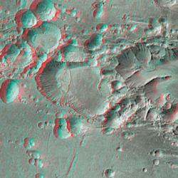 Mars Landscape anaglyph image