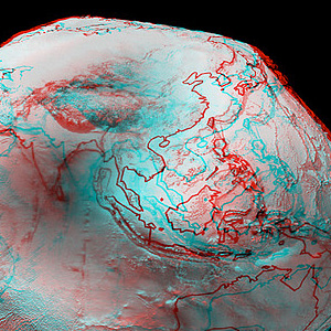 Anaglyph Geoid