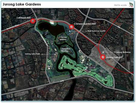 Location of New Science Centre Singapore at Jurong Lake Gardens (Photo Credit: NParks)