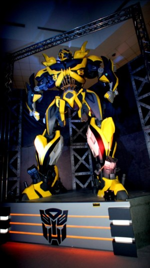 Here, Bumblebee stands proud and tall as one of our most lovable Autobots!