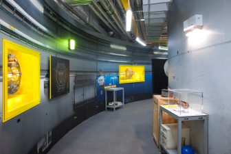Exploring the Corridors of CERN, Image Credit: Science Museum