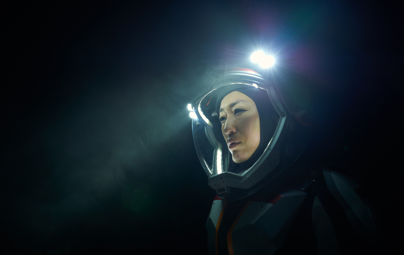 Jihae as Hana Seung, Mission pilot, systems engineer. The global event series MARS premieres on the National Geographic Channel in November 2016. (photo credit: National Geographic Channels/Robert Viglasky)