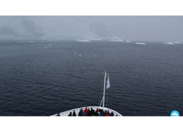 The first sight of icebergs left a lasting impression on me, which was quickly overshadowed by the knowledge that I was setting foot on the southernmost continent on Earth. Credits: The 2041 Foundation — Sandra Marichal