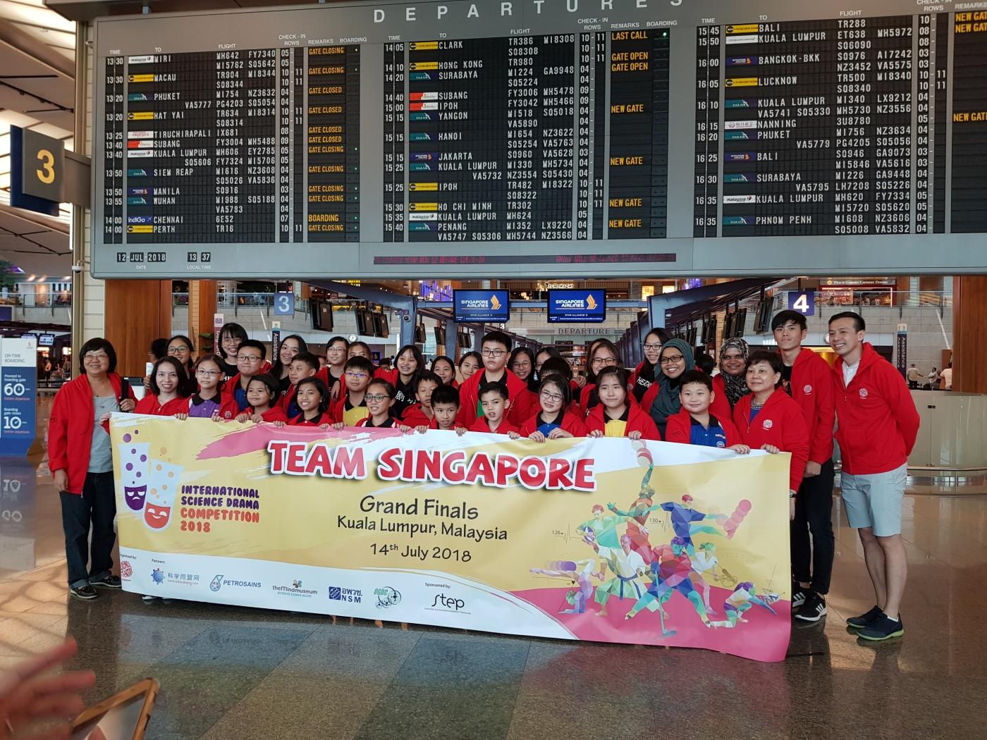 Team SG airport departure